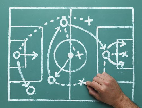 Soccer Play on Chalk Board - Small -- shutterstock_143044870